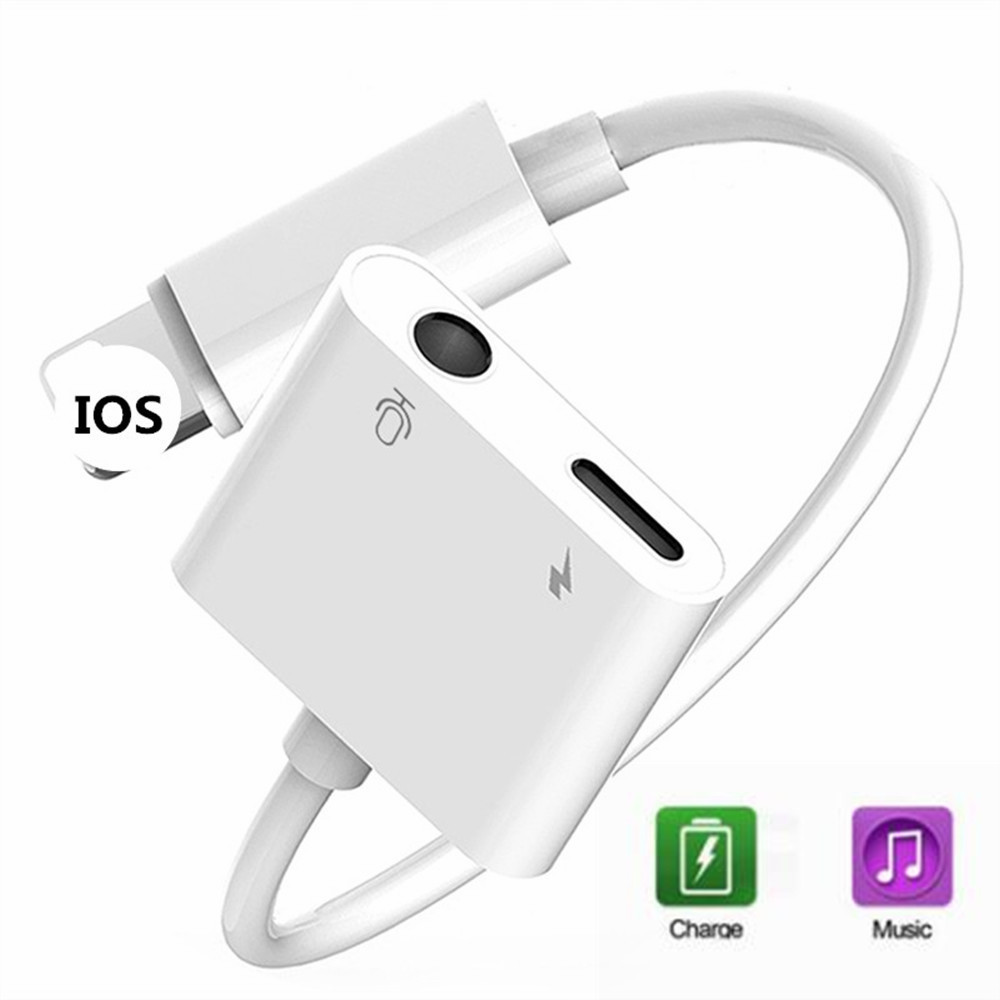 small resolution of headphone jack adapter for apple lighting to 3 5mm headphone accessory for iphone 6 7 8 plus xs x converter audio adapter cable