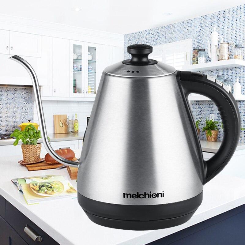 1L bouilloire col de cygne bouilloire électrique température réglable isolation inox goutte à goutte café thé EU théière