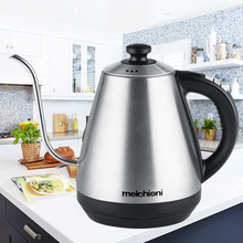 1L gooseneck Kettle Electric Kettle adjustable temperature insulation stainless steel drip coffee tea EU teapot small capacity electric kettle double insulation 304 stainless steel health care foam teapot