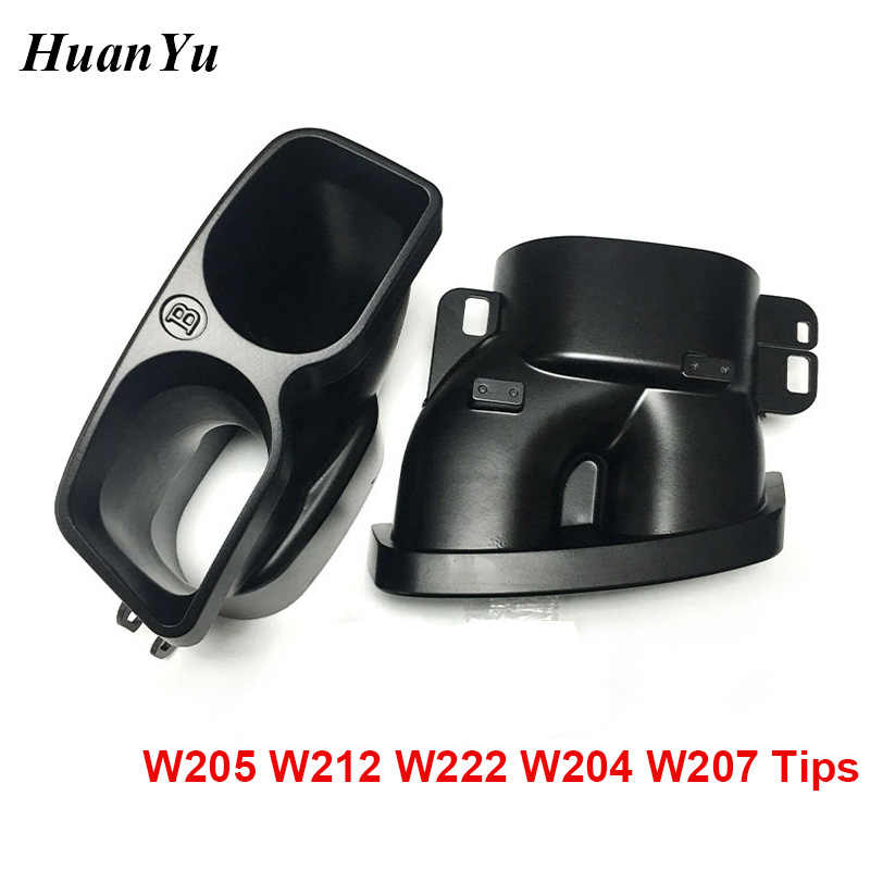 1 пара черный автомобильный глушитель для выхлопной трубы для Mercedes-benz C E S Class W204 W205 W212 W222 W207 барбус задний бампер наконечники хвост