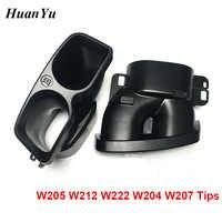 1pair Black Car Exhaust Tips Muffler for Mercedes-benz C E S Class W204 W205 W212 W222 W207 Barbus Rear Bumper Tips Tail