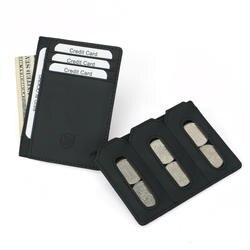 Натуральная кожа кредитной держатель для карт с портмоне держатель кредитной карты Новый RFID мини кредитной карты кошелек для денег