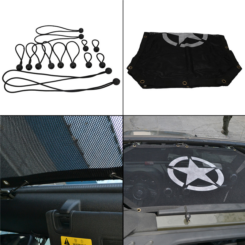 Auto Accessories Military Army Star Eclips Full Cover Sun Shade For Jeep Wrangler JK 2 4