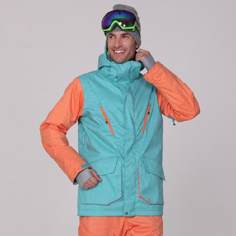 Veste de Ski homme veste de Snowboard coupe-vent imperméable neige porter chaud extérieur Sport manteau hommes Gsou neige grande taille doudoune