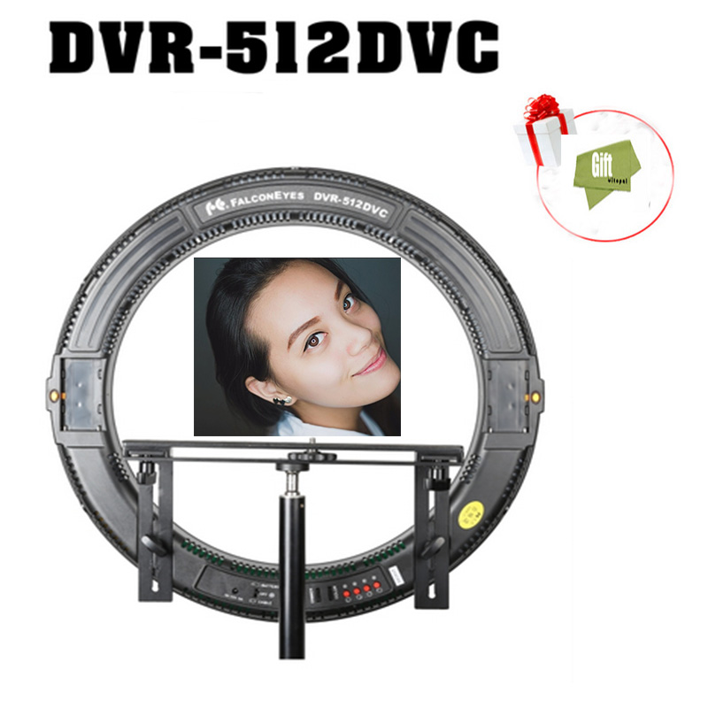 FALCON EYES DVR-512DVC Ring Panel Light 31W Bi Color Led Photography Continuous Lighting with Camera Bracket цены онлайн
