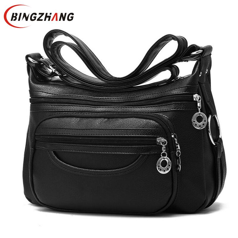 2018 Brand Designer Women Messenger Bags Crossbody Soft Leather Shoulder Bag High Quality Fashion Women Bag Luxury Handbag L8-53 tcttt luxury handbags women bags designer fashion women s leather shoulder bag high quality rivet brand crossbody messenger bag