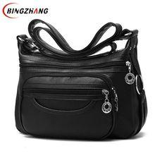 2018 брендовая дизайнерская женская сумка-мессенджер через плечо мягкая кожаная сумка на плечо высокого качества модная женская сумка роскошная сумка L8-53