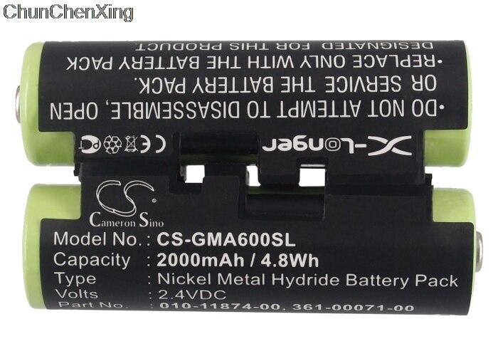 Cameron Sino 2000 mah Batterie 010-11874-00 für Garmin Astro 430 handheld, Oregon 600, 600 t, 650, 650 t, Sturm 4, 4 Fishfinder
