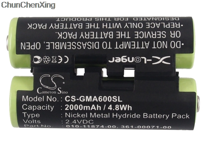 Cameron Sino 2000mAh Battery 010-11874-00 For Garmin Astro 430 Handheld, Oregon 600, 600t, 650, 650t, Striker 4, 4 Fishfinder