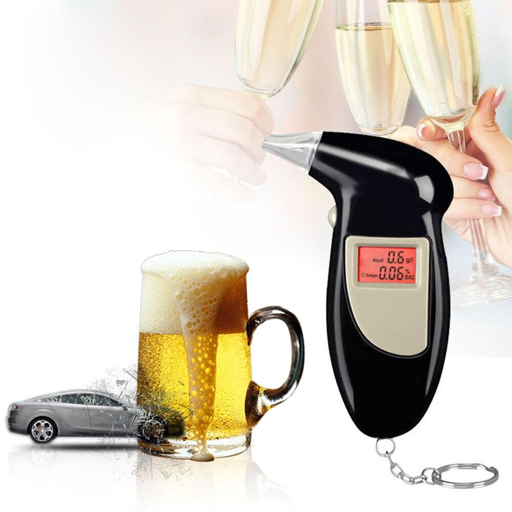 Präzision mini Alkoholtester Professionelle Digitale Atem Alkohol Tester Akustischer alarm LCD Backlit Display Gas analyzer monitor
