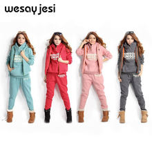 Plus Size 6XL sport suit women tracksuit 3 piece set women Fall Winter Woman Clothes Casual Hooded Sweatshirt Sweater coat(China)