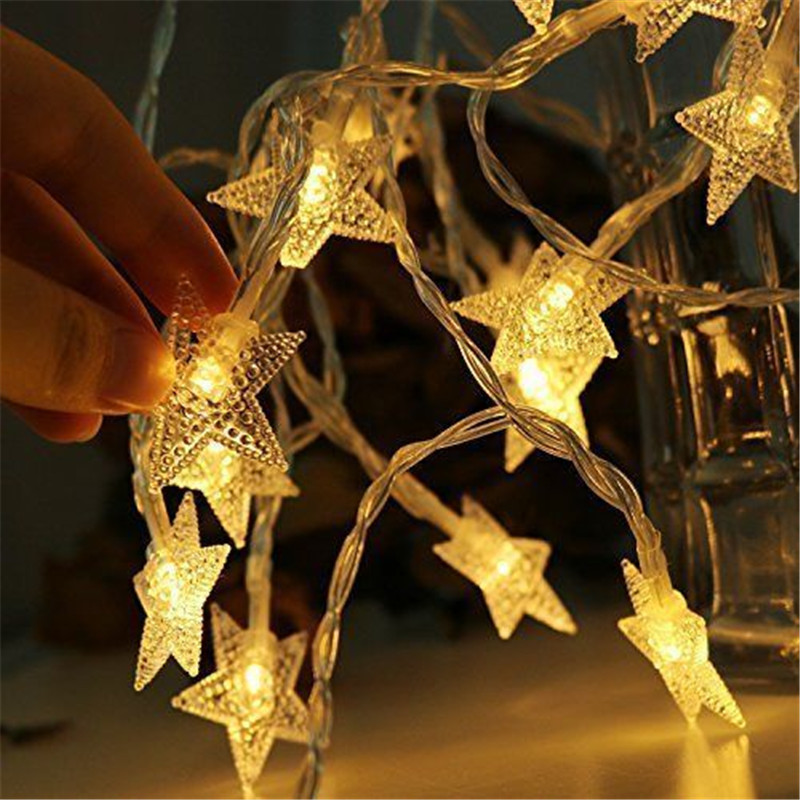 ECLH 3M 20 Leds Star Shaped LED Fairy String Lights Baby Home Decor Lighting For Christmas Wedding Holiday Party Decoration