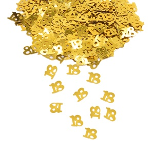 Gold Figures 18 30 40 50 60 Confetti Digitals Sprinkle For Happy Birthday Anniversary Party Favor Numbers Table Scatters Decorat