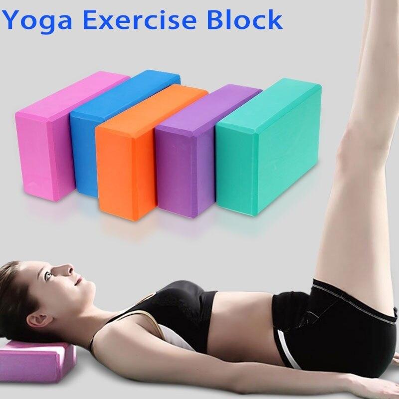 <+>  Yoga Blocks Домашнее Упражнение Фитнес Ева Yoga Blocks Кирпичи Пена Пена Тренажерный зал Инструмент  ①