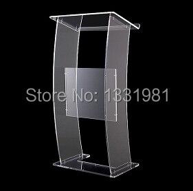 Free Shipping Hot Sell Clear Acrylic Lectern;Clear Church Pulpit;Modern Plexiglass Pulpit Plexiglass