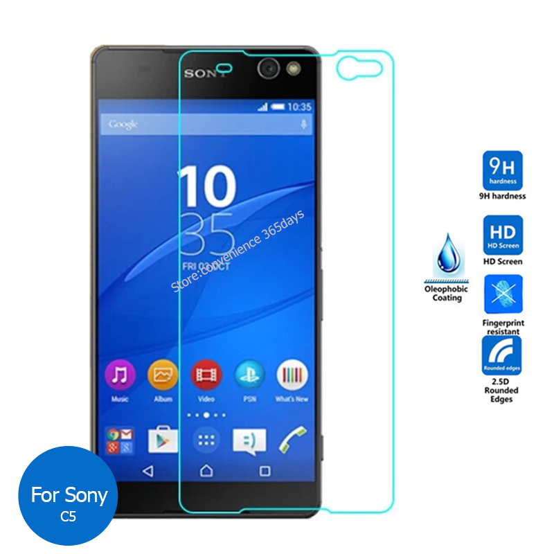 Tempered Glass For Sony Xperia C C3 C4 C5 E4 E4g E5 Ultra Screen Protector 2.5 Safety Protective Film On C 3 4 5 E 4G
