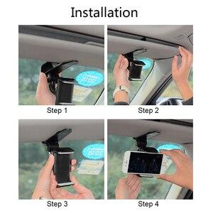 Image 5 - אוניברסלי לרכב מגן שמש טלפון מחזיק 360 תואר סיבוב רכב ניווט הר Stand קליפ טלפון נייד סוגר אבזר