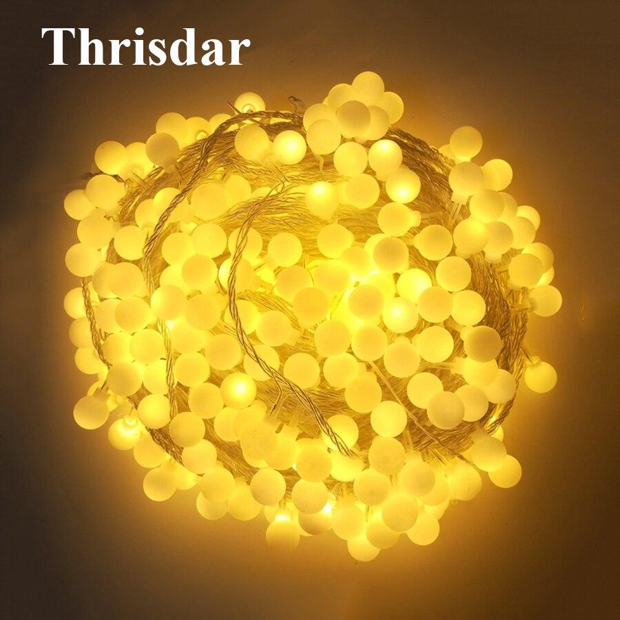 Thrisdar 50M 400 LED Romantic Festoon Globe Ball LED Fairy String Light Garland Christmas Wedding Garden Party Patio Light