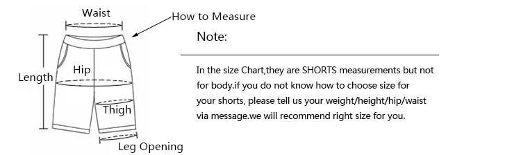 men shorts measurements 2