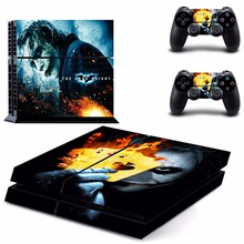 Joker Arkham City and Ace Cards Vinyl Sticker Skin For PS4 PlayStation 4 Console+Free Controller Cover Decal