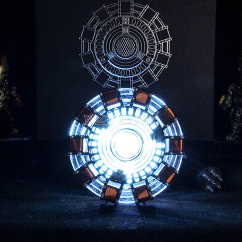 Avengers fer homme 1/1 échelle MK1 Arc réacteur fer homme bricolage assemblage modèle jouets Action Figure pièces USB LED fer-homme réacteur jouet