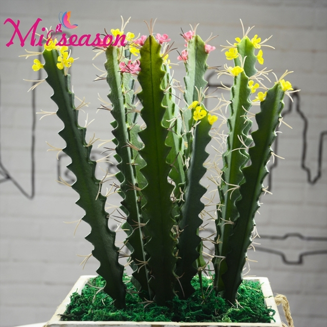 Real Touch Artificial Thorns Cactus Succulents Long Bonsai DIY