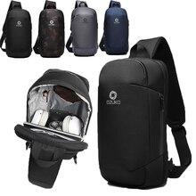 Мужские сумки через плечо с защитой от кражи, сумка-мессенджер для путешествий, сумка-слинг, подходит для Ipad 9,7 дюймов, модная водонепроницаемая сумка на плечо, нагрудная сумка для мужчин