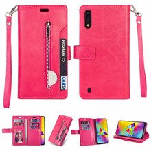 Zipper Wallet 9 Card Flip Leather Case for Samsung Galaxy M10 M20 M30 Slot Holders J4 J6 Plus Phone Bag