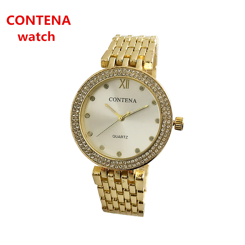 2018 new factory spot stainless steel quartz watch 38mm Milan with ultra-thin diamond gold fashion watch female Watches