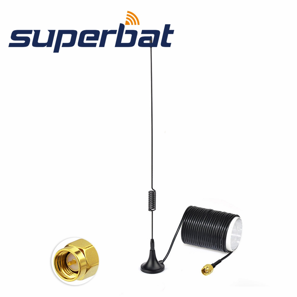Superbat Digital TV Antenna 5dBi Aerial DAB/DAB+/FM/AM Car Radios Aerial Magnetic Mount DAB Aerial SMA Connector For Auto DAB