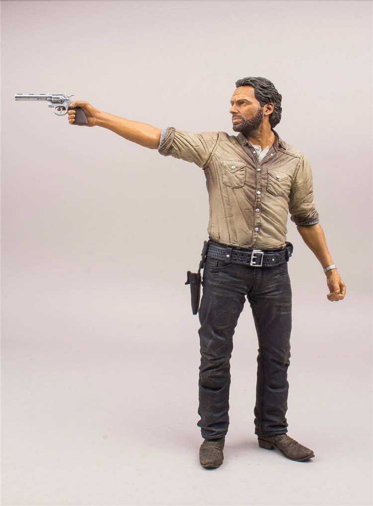 The Walking Dead Rick Grimes Deluxe PVC Action Figures Collectible Model Kids Toys Doll 10inch 25cm patrulla canina with shield brinquedos 6pcs set 6cm patrulha canina patrol puppy dog pvc action figures juguetes kids hot toys