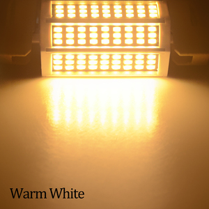 Image 2 - 78 118 135 189 مللي متر R7S عدسة ليد ثنائية الأضواء لمبة 220 فولت 10 واط 20 واط 25 واط 30 واط أمبولة LED R7S الكاشف سمد 5730 عالية التجويف لا وميض