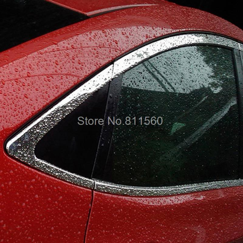 For Hyundai Accent i25 2012 Stainless Steel Chrome Window Sill Belt Trim Windows Molding Trims Glass Strips new arrival for lexus rx200t rx450h 2016 2pcs stainless steel chrome rear window sill decorative trims