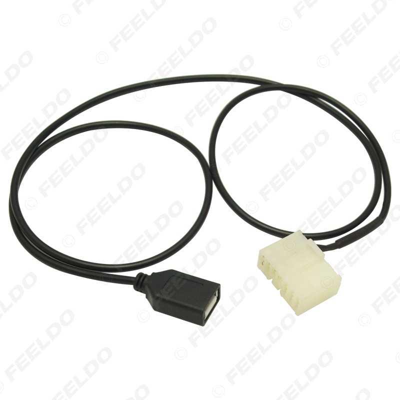FEELDO 1 Âm Thanh Xe Hơi Nữ Cáp USB Dành Cho BYD F3/F3R/F6/G3/ g3R/G6/L3 CD USB Dây # FD5664