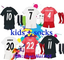 afb7317fc 2019 Kids Kit Real Madrid Football Jersey 201819 Home White Away Boy Soccer  Jerseys ISCO ASENSIO BALE KROOS Child 3rd red Soccer