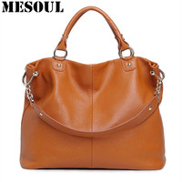 Genuine Leather Bags Ladies Real Leather Bags Designer Handbags High Quality Female Crossbody Shoulder Casual Tote