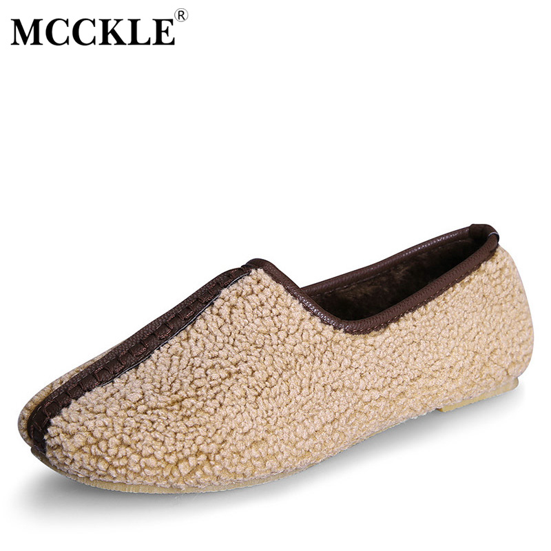 MCCKLE 2017 Ladies Winter Warm Plush Home Mother Shoes Female Flat Furry Slip On Indoor Comfortable Slippers Plus Size34-42 подвесной светильник st luce buld sl299 563 01