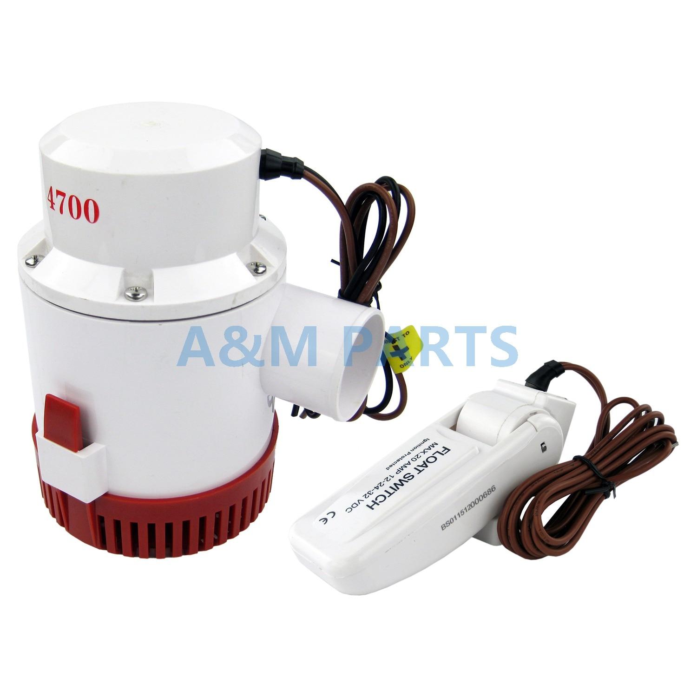 Pompe à eau Submersible de bateau marin de pompe de cale de 12V 4700GPH avec l'interrupteur à flotteur
