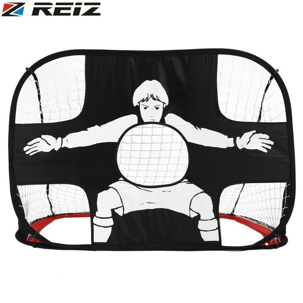 REIZ Foldable Football Gate Net Goal Gate Extra-Sturdy Portable Soccer Ball Practice Gate for Children Students Soccer Training