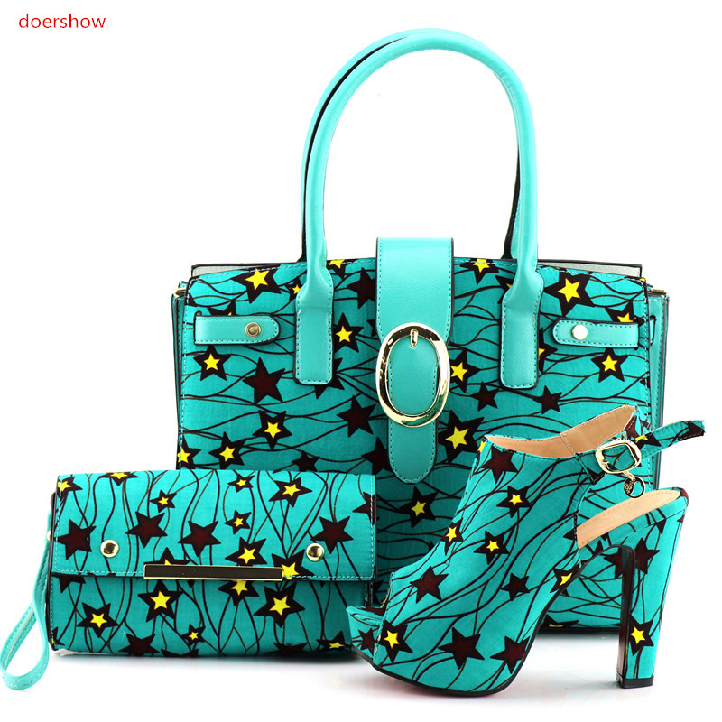 doershow nice Looking Italian Shoes With Matching Bags African Shoes and Bag To Match Wedding Shoes and Bag Sets For Party UP1-1 baofeng uv 5ra 1 5 lcd 5w dual band 128 ch walkie talkie w 1 led flashlight blue