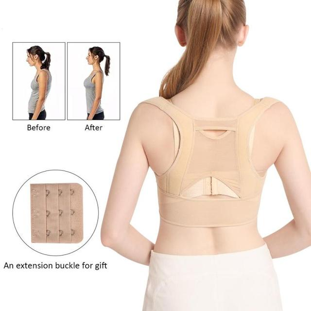 7e48e2adc0a 2018 Women Back Posture Correction Corset Orthopedic Upper Back Shoulder  Spine Corrector Clavicle Support Belt straightener C3
