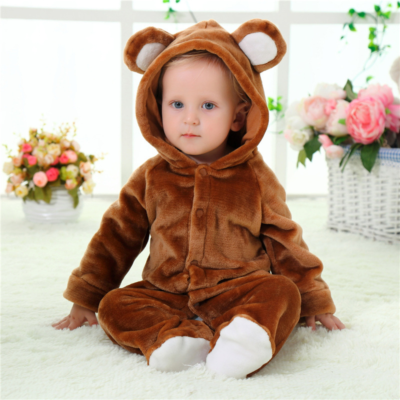 Newborn baby rompers Winter Flannel Jumpsuits Infant Girls Rompers Baby Clothing Autumn Baby Clothes Flannel Clothing Y747 cotton baby rompers set newborn clothes baby clothing boys girls cartoon jumpsuits long sleeve overalls coveralls autumn winter