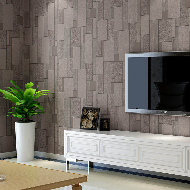 Nouveau papier peint mosaïque moderne 3d noir et blanc mode salon Tv Backsdrop papier peint Eoll gris Beige papier peint Non tissé