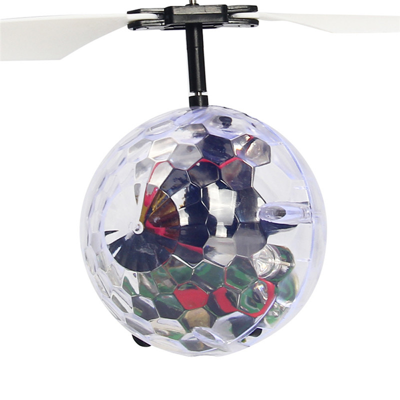 RC Drone Helicopter Ball Built in Disco Music With Shinning LED Lighting for Kids Teenagers