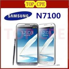 original samsung Galaxy Note II 2 N7100 EU version Refurbished N7105 8.0MP camera GPS Android 4.1 phone WIFI Free shipping