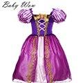 Age2-9Years Rapunzel Dress Niños Ropa Muchachas de La Princesa Cenicienta Aurora Niños Cosplay Masquerade Vestidos de Bola Para Niños