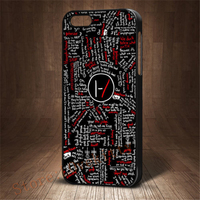 Twenty One Pilots Blurryface Song Lyrics Quote Fashion Cover Case For Iphone 4 4s 5 5s