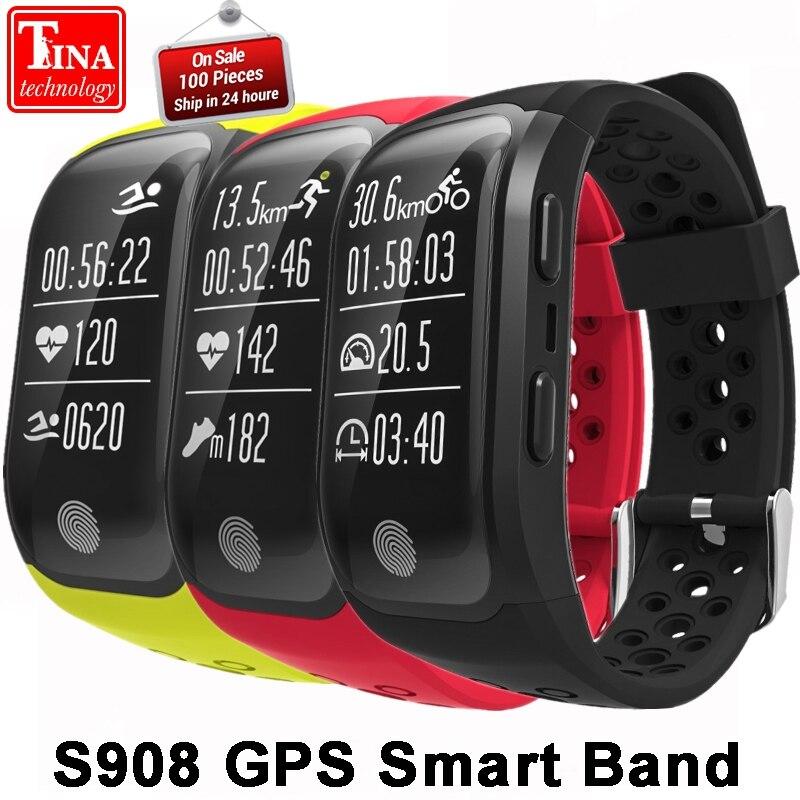S908 GPS Smart Band IP68 Waterproof Sports Wristband Multiple sports Heart Rate Monitor Call Reminder G03 Smart band цена