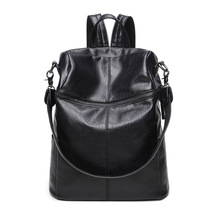 2017 Korean fashion Frauen Weiches Leder Zurück tasche retro große kapazität Fraktion Umhängetasche schultasche Rucksack