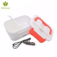 Mrosaa Portable Electric Heating Lunch Box Food Grade Food Container Food Warmer For Kids Adults 4 Buckles Dinnerware Sets